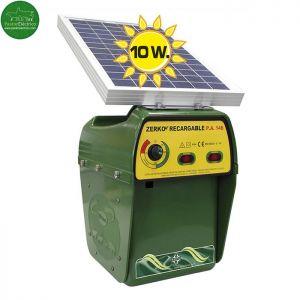 Pastor eléctrico Zerko-Recargable palca solar10w con batería 12 V y cargador