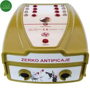 Pastor eléctrico para gallinas de 8 salidas. Antipicaje de huevos.