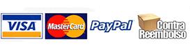 Formas de pago: tarjeta de crédito o débito, transferencia bancaria, contrareembols o Paypal