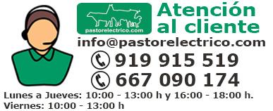 Atención al cliente 919915519 o 667090174 pastoreléctrico.com
