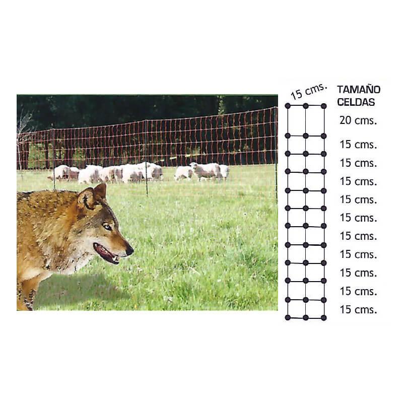 malla para animales salvajes 50 metros
