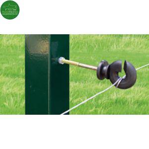 Aislador Z-71 tirafondo separador 10cms con tornillo-metal para hilo cercado eléctrico