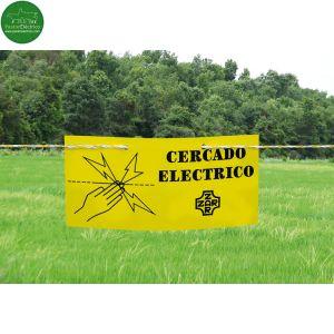Cartel señalizador de cercado eléctrico para pastores eléctricos