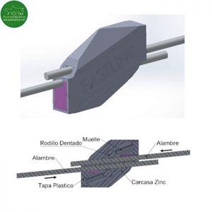 Conector de Alambre 1,5 - 2,5 diámetro para cercados eléctricos.