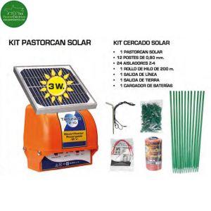 Kit Pastor eléctrico Triunfo R-10 con placa solar 3W para perros