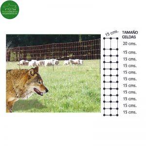 Valla eléctrica para lobo cercado eléctrico rollo 50 metros