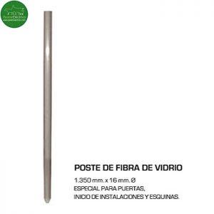 Poste Fuerte Fibra de Vidrio (especial puertas y esquinas) cercado eléctrico - pastor eléctrico