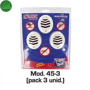 Repelente ultrasonidos interiores hasta 45 m2 pack de 3 unids pastor eléctrico