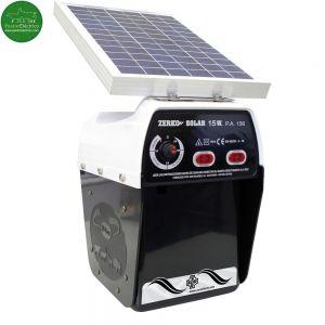 Pastor eléctrico Zerko con placa solar de 15 watios a batería