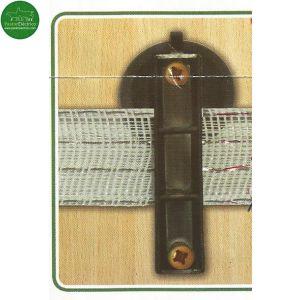 Aislador especial para colocar cinta de pastor de caracoles.