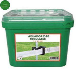 Cubilete Aislador Z-20 regulable-varilla para cinta. Cubilete 40 unidades cercado eléctrico