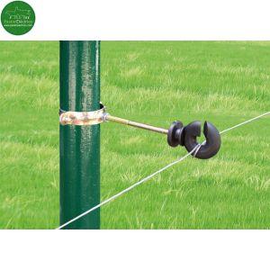 Aislador Z-68 tirafondo separador 10cms con tubo regulable-metal cercado eléctrico