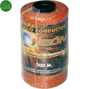 Hilo conductor 3 hilos naranja NEON rollo de 200 metros cercado eléctrico
