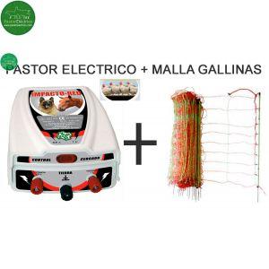 Pastor Eléctrico Impacto Red + Malla para Gallinas