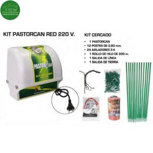 Kit Pastorcan Red 220 V pastor eléctrico.