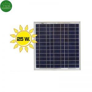 Placa solar 25 Watios pastor eléctrico