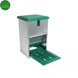 Tolva automática para gallinas capacidad 8 Kg pastor eléctrico