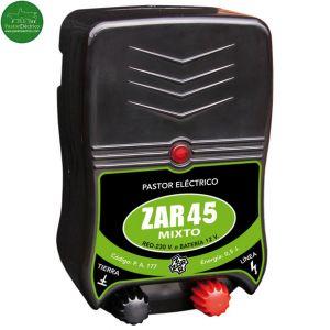 Pastor eléctrico Zar-45 mixto a bateria de 12 voltios y a red eléctrica 220 V
