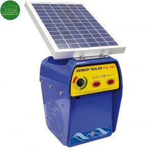 Pastor eléctrico Zerko con placa solar de 10 W a bateria