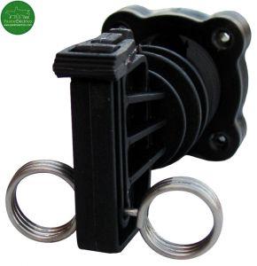 Aislador-piqueta-puerta. Aislador Z-18 para puertas con varilla de fibra de vídrio cercados eléctricos
