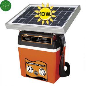 Pastor Eléctrico Impacto Solar 10W y batería 12V